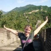 Sight seeing at the Great Wall of China