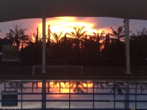 Sunset from the big pool