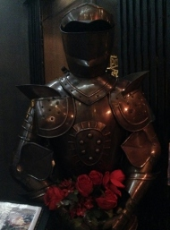 Suit of armor guarding the door